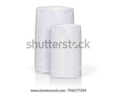 white paper packag? Easy to change colors Mock Up Vector Template