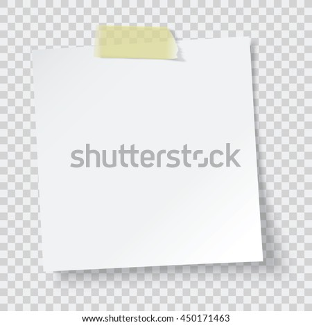 white paper reminder  vector