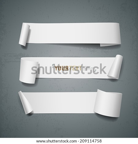 white paper roll long