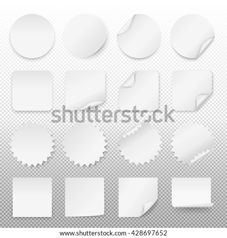 White paper stickers
