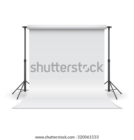 white paper studio backdrop