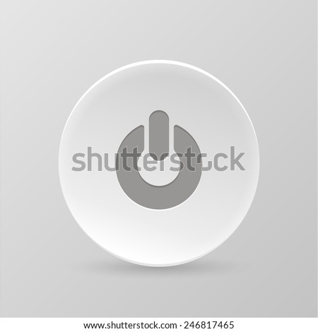 White paper web button. ON OFF. Isolated on a gray background. Vector illustration. #246817465