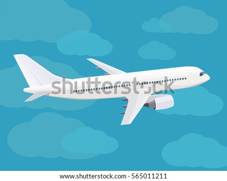 white passenger plane flying