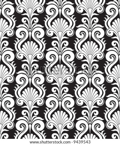 black and white patterns backgrounds. stock vector : White pattern
