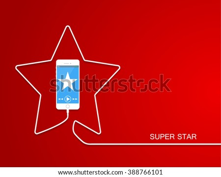 white phone charging in star