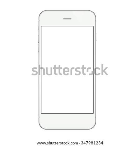 white phone isolated on white
