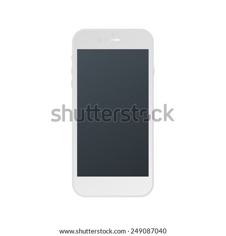 white phone isolated vector