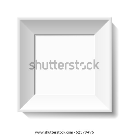 White photo frame. Vector.