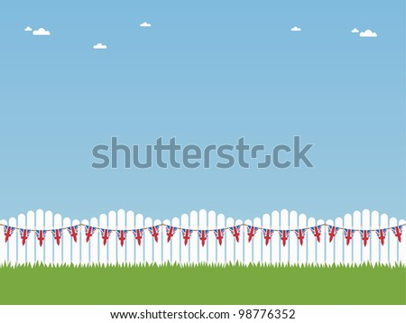 white picket fence with union