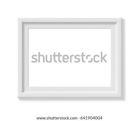 white picture frame landscape