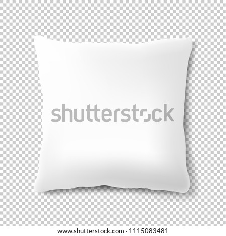 White Pillow Isolated Transparent Background With Gradient Mesh, Vector Illustration #1115083481
