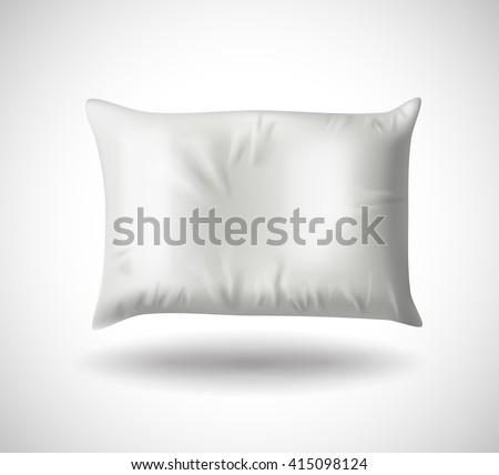 white pillow on white