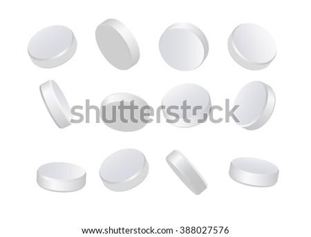 White pills Photo stock ©