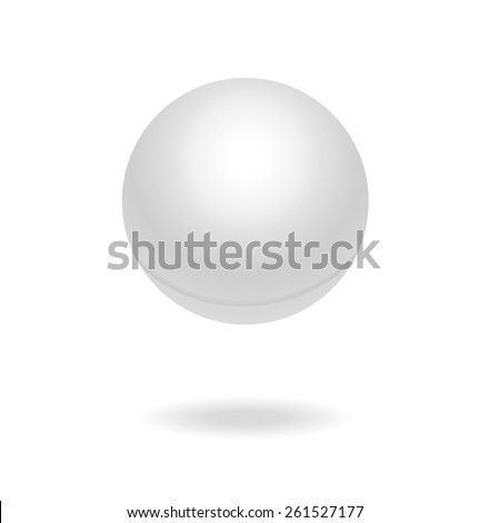White Ping pong ball, vector illustration