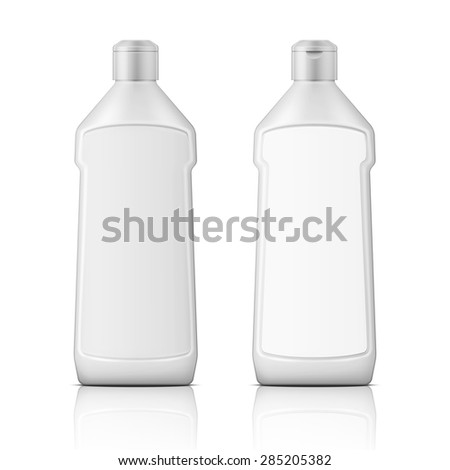 white plastic bottle with label
