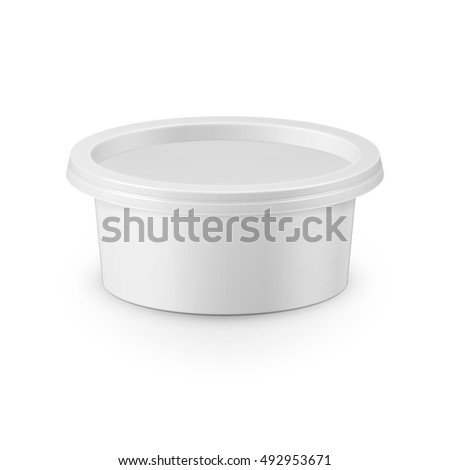 white plastic tub container for