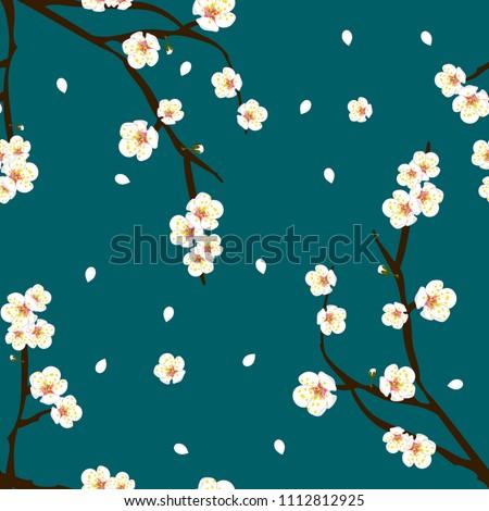 white plum blossom flower on