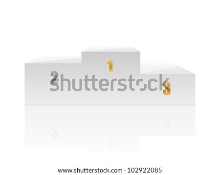 White podium with numbers Vector illustration