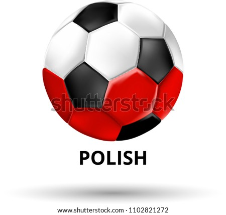 white polish card with soccer