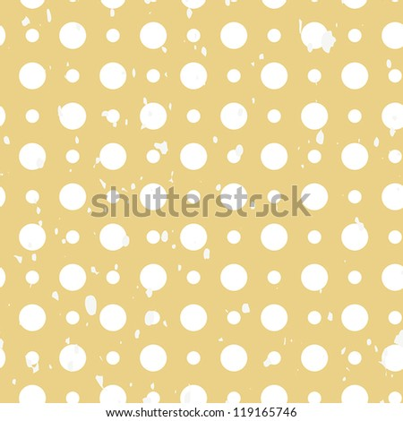 White polka dot grunge vintage seamless background pattern