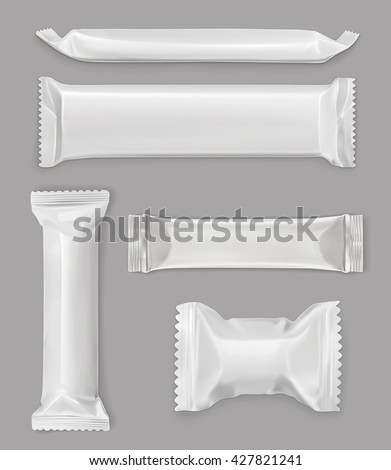 white polyethylene package