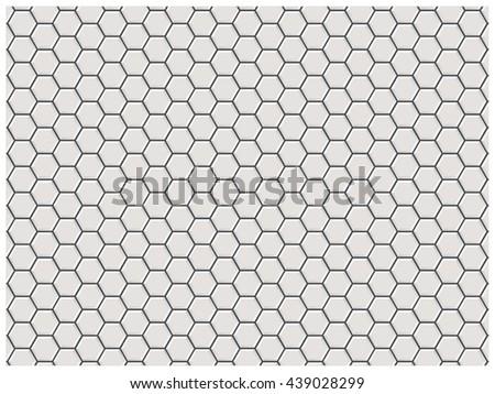 White polygon brick wall, polygon pattern, subway tile