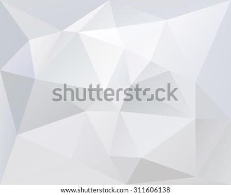 white polygonal triangle