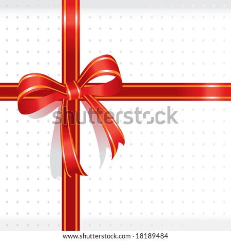white present box sealed with red ribbon for special events- vector illustration