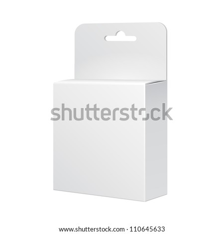 White Product Package Box Illustration Isolated On White Background. Vector EPS10