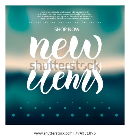 White promotion vector calligraphy text