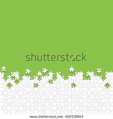 white puzzles pieces arranged