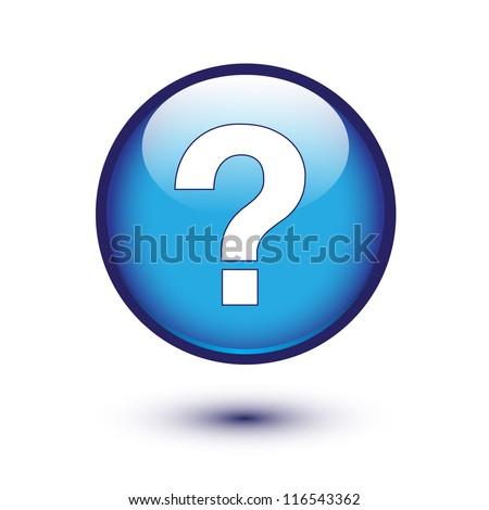 White question mark on blue button