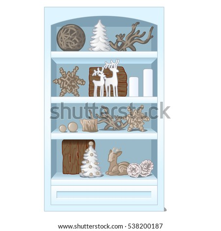 white rack with shelves  filled