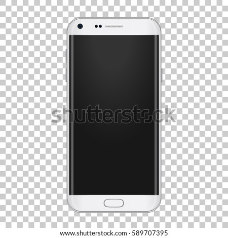 white realistic moder phone