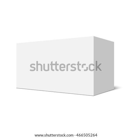 White rectangular box. Package. Vector illustration.