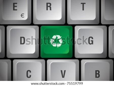 White recycling keyboard