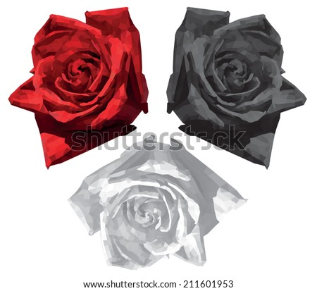 white  red and black roses