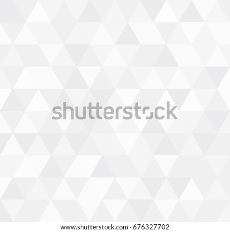 White retro triangle background, Abstract square mosaic background, Square background vector #676327702