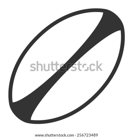 white rugby ball with stripes