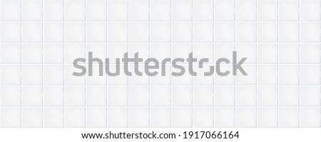 White rustic ceramic tiles. Seamless pattern, square white rustic tiles. Vector illustration.