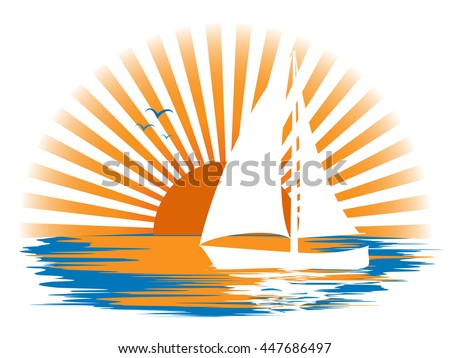 white sailboat and its