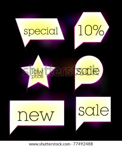 White sale tag sticker