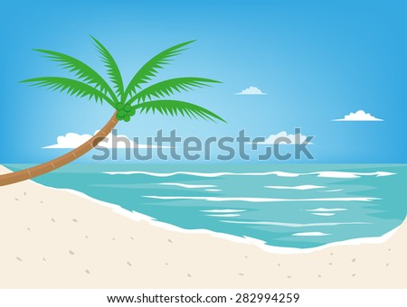 white sand beach resort vector