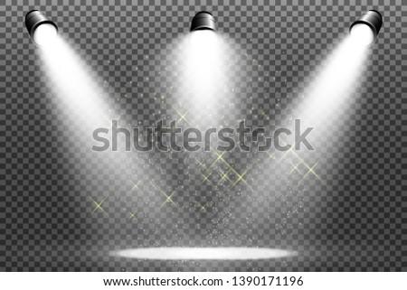 White scene on with spotlights. Vector illustration. Stock fotó ©