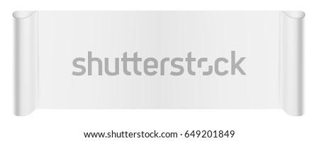 White Scroll Banner