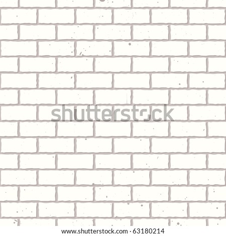 White seamless brickwall with repeating pattern design grunge