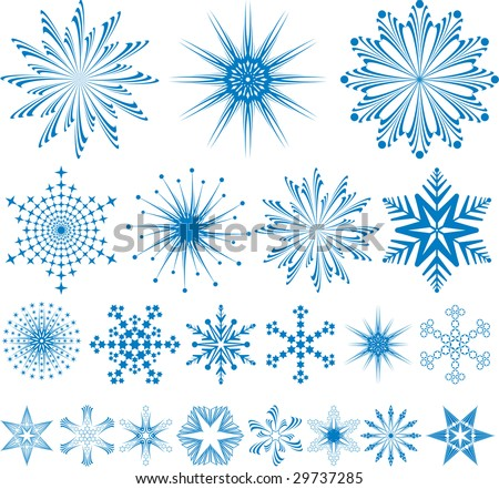 White seamless pattern from snowflakes(can be repeated and scaled in any size)