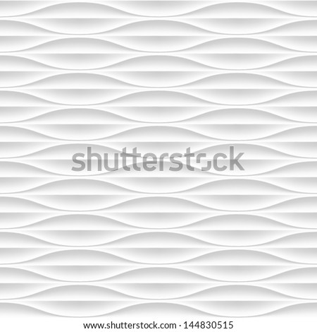 White Seamless Texture. Wavy Background. Interior Wall Decoration