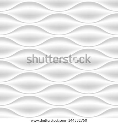 stock vector white seamless texture wavy background interior wall decoration d vector interior wall panel 144832750 - Каталог — Фотообои «3D Текстуры»
