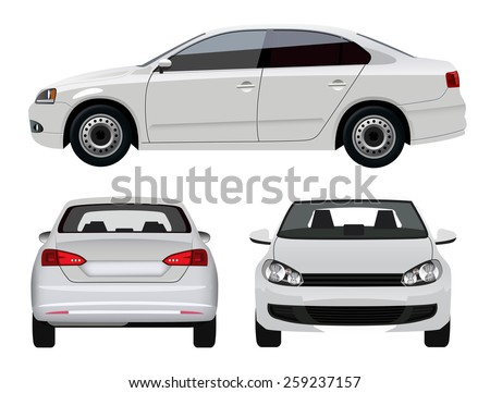 Shutterstock White Sedan Car